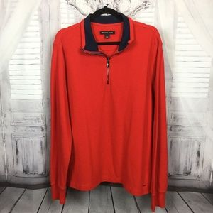 Michael Kors Orange Quarter Zip Pullover Sweater